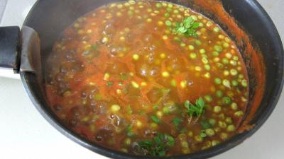 Recette Sauce tomate aux petits pois