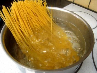 Spaghettis aux petits pois - 7.3