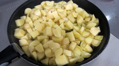 Frittata aux pommes de terre et petits pois - 4.2