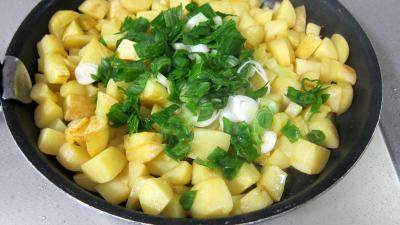 Frittata aux pommes de terre et petits pois - 4.4