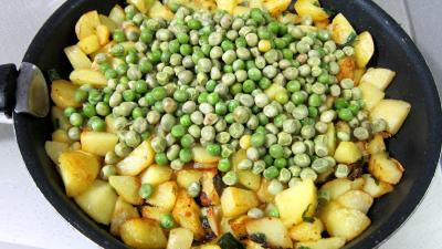 Frittata aux pommes de terre et petits pois - 6.2
