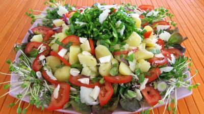 Image : recette Piments doux en salade