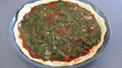 Pizza à l'oseille et aux haricots beurre - 9.2