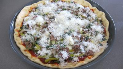 Pizza à l'oseille et aux haricots beurre - 10.2