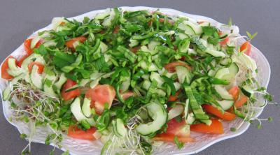 Salade haricots beurre du jardin - 8.1