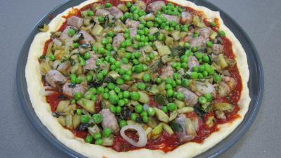 Pizza aux petits pois et aubergines - 9.2