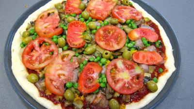 Pizza aux petits pois et aubergines - 10.1