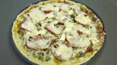 Pizza aux petits pois et aubergines - 10.3