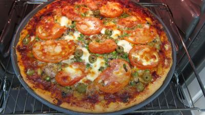 Pizza aux petits pois et aubergines - 11.1