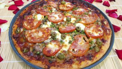 Pizza aux petits pois et aubergines - 11.3