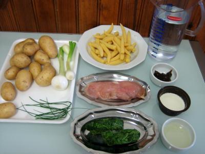 Ingrédients pour la recette : Soupe de dinde aux épis de maïs façon Chinoise