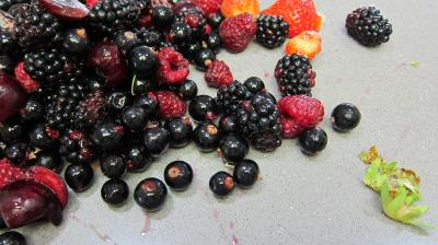 Glace aux noisettes et fruits rouges - 3.3