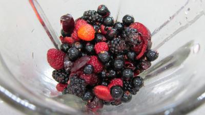 Glace aux noisettes et fruits rouges - 4.2