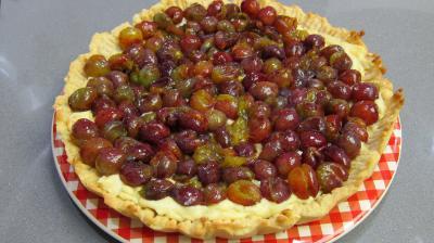 Tarte meringuée aux petites prunes - 3.4