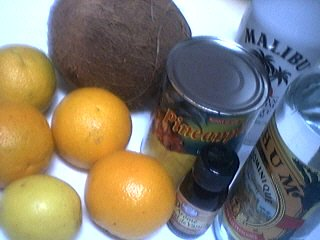 Ingrédients pour la recette : Punch à la noix de coco