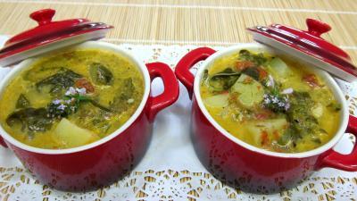 Cuisine diététique : Cassolettes de soupe à l'oseille