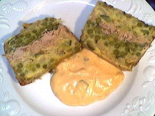 céleri-rave : Assiette de terrine de légumes au thon