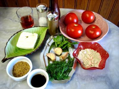 Ingrédients pour la recette : Tomates farcies au tofu