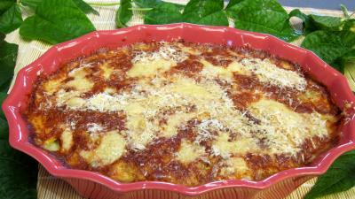 Image : recette Haricots verts au four gratinés