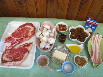Ingrédients pour la recette : Entrecôtes croustillantes et sa sauce aux cacahuètes