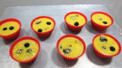 Recette Cupcakes aux nashis et mûres