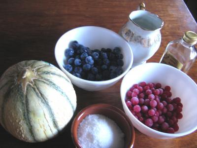 Ingrédients pour la recette : Salade de melon aux myrtilles