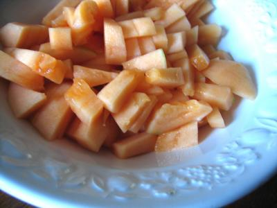 Salade de melon aux myrtilles - 2.2