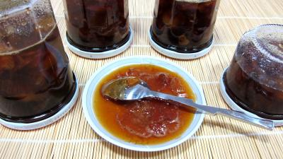 nashi : Coupelle de confiture de nashis à l'anis