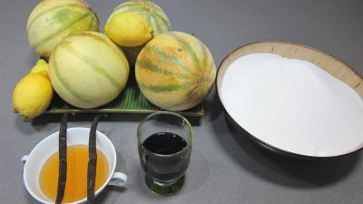 Ingrédients pour la recette : Confiture de melons