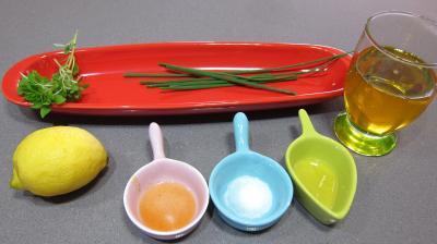 Ingrédients pour la recette : Sauce vinaigrette au citron