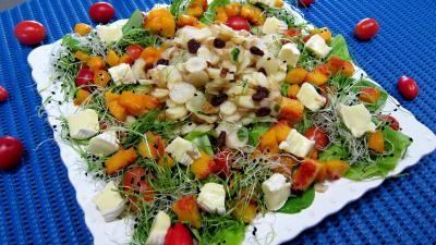 topinambour : Assiette de topinambours en salade