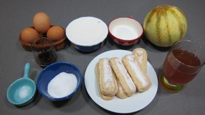 Ingrédients pour la recette : Mascarpone au melon