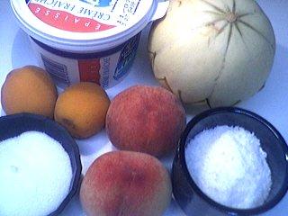 Ingrédients pour la recette : Melons en blanquette