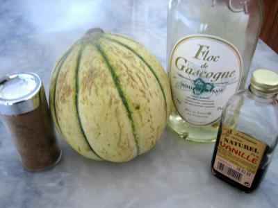 Ingrédients pour la recette : Soupe de melon au Floc de Gascogne