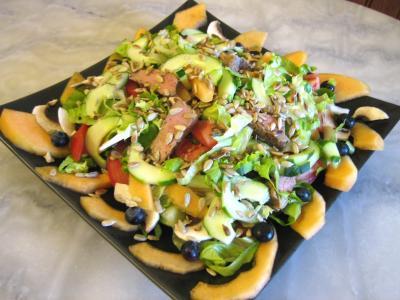 Recette Plat de salade de melon aux graines de tournesol