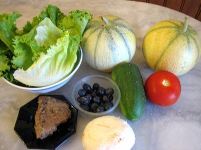 Ingrédients pour la recette : Salade de melon aux graines de tournesol