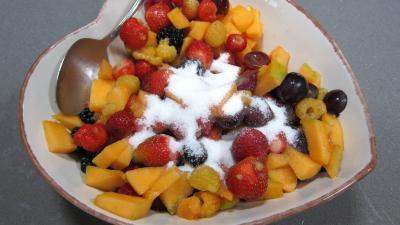 Recette Fruits rouges et fruits d'été aux petits suisses