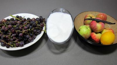 Ingrédients pour la recette : Confiture de raisins