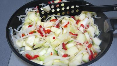 Tarte aux courgettes et piment doux - 4.4
