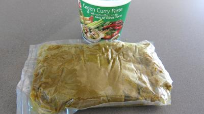 Photo : Pâte de curry verte