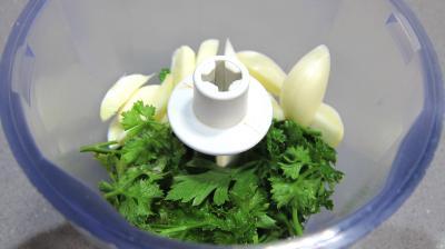 Courgette et coeurs de canard à l'ail et au persil - 1.3