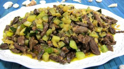 Courgette et coeurs de canard à l'ail et au persil - 6.2