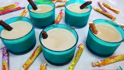 Image : Verrines de crème anglaise aux carambars