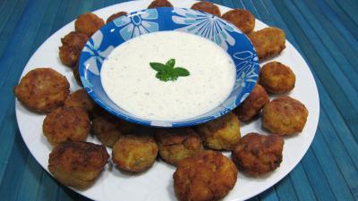 Cuisine diététique : Assiette de keftas au tofu et au pâtisson