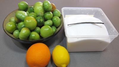 Ingrédients pour la recette : Confiture de tomates vertes