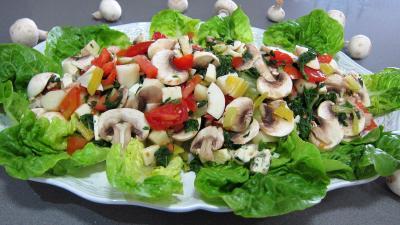 Sauce minceur : Plat de bettes en salade