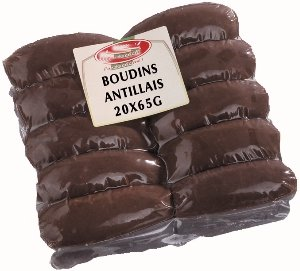 Photo : Boudins antillais sous sachet