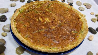 quiches salées : Assiette de quiche aux poivrons