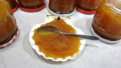 Recette Coupelle de compote de pommes aux raisins secs