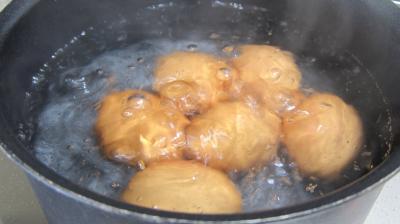 Fondue de poireaux aux oeufs fantômes - 7.2